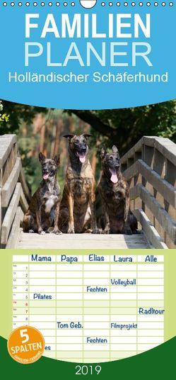 Holländischer Schäferhund – Familienplaner hoch (Wandkalender 2019 , 21 cm x 45 cm, hoch) von Verena Scholze,  Fotodesign