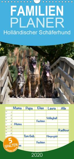 Holländischer Schäferhund – Familienplaner hoch (Wandkalender 2020 , 21 cm x 45 cm, hoch) von Verena Scholze,  Fotodesign