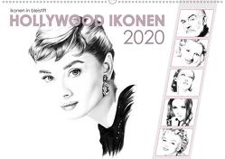 Hollywood Ikonen in Bleistift 2020 (Wandkalender 2020 DIN A2 quer) von Richter,  Dirk