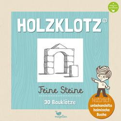 Holzklotz – Feine Steine – 30 Bauklötze