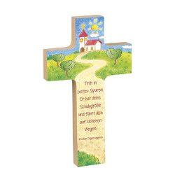 Holzkreuz »Gott behüte dich auf deinen Wegen«