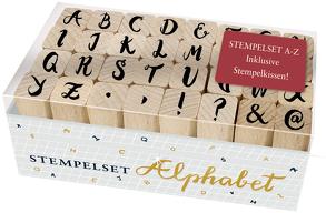 Holzstempel-Set – Alphabet