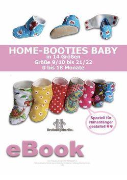 Home-Booties Baby Schnittmuster für Gr. 9 bis 22 von firstloungeberlin von Schille,  Ina