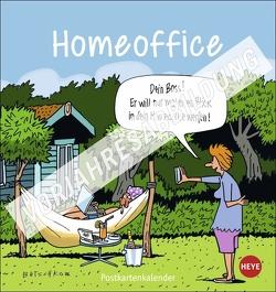Homeoffice Postkartenkalender 2022 von Heye