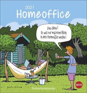 Homeoffice Postkartenkalender von Butschkow,  Peter, Heye