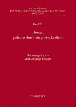 Homer, gedeutet durch ein großes Lexikon von Meier-Brügger,  Michael