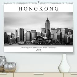 Hongkong – Die Metropole am südchinesischen Meer in Schwarzweiß (Premium, hochwertiger DIN A2 Wandkalender 2020, Kunstdruck in Hochglanz) von Rost,  Sebastian