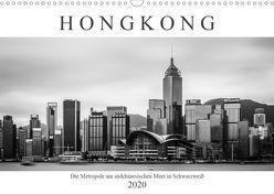 Hongkong – Die Metropole am südchinesischen Meer in Schwarzweiß (Wandkalender 2020 DIN A3 quer) von Rost,  Sebastian