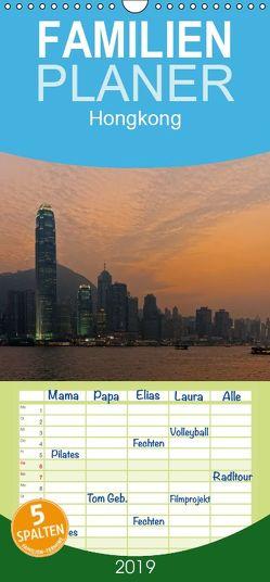 Hongkong – Familienplaner hoch (Wandkalender 2019 , 21 cm x 45 cm, hoch) von Gödecke,  Dieter