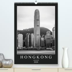 Hongkong schwarzweiß (Premium, hochwertiger DIN A2 Wandkalender 2020, Kunstdruck in Hochglanz) von Rost,  Sebastian