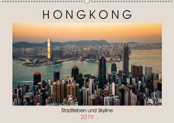 HONGKONG Skyline und Stadtleben (Wandkalender 2019 DIN A2 quer) von Rost,  Sebastian
