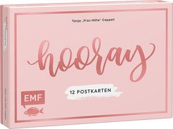 """Hooray – 12 Handlettering Postkarten – Tanja """"Frau Hölle"""" Cappell von Cappell,  Tanja"""