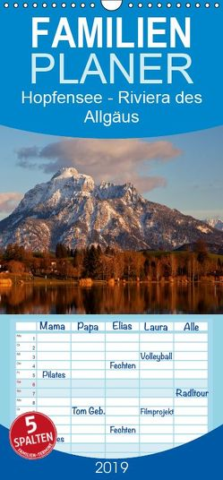 Hopfensee – Riviera des Allgäus – Familienplaner hoch (Wandkalender 2019 , 21 cm x 45 cm, hoch) von Pfleger,  Hans