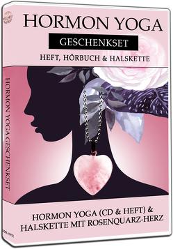 Hormon Yoga Geschenkset: Hörbuch, Heft & Halskette