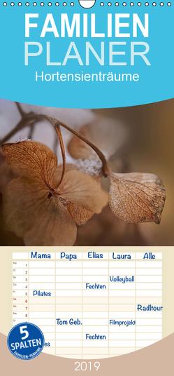 Hortensienträume – Familienplaner hoch (Wandkalender 2019 , 21 cm x 45 cm, hoch) von Petra Voß,  ppicture-
