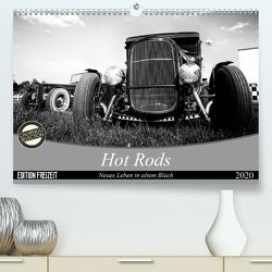 Hot Rods – Neues Leben in altem Blech (Premium, hochwertiger DIN A2 Wandkalender 2020, Kunstdruck in Hochglanz) von Berlin,  StrawfishStudio