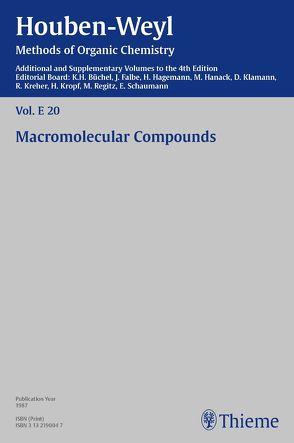 Houben-Weyl Methods of Organic Chemistry Vol. E 20, 4th Edition Supplement von Adolphs,  P., Alberts,  H., Bachem,  H., Bartl,  Herbert, Bieringer,  H.