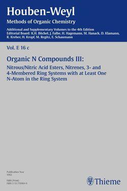 Houben-Weyl, Volume E 16c, 4th Edition Supplement von Backes,  Jutta, Becker,  Gerhard, Behnisch,  Peter, Kropf,  Christine, Lenoir,  Dieter