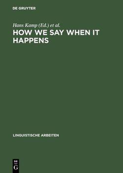 How we say WHEN it happens von Kamp,  Hans, Reyle,  Uwe