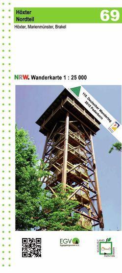 Höxter Nordteil Blatt 69 NRW Wanderkarte