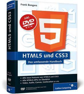 HTML5 und CSS3 von Bongers,  Frank