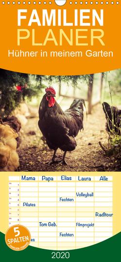 Hühner in meinem Garten – Familienplaner hoch (Wandkalender 2020 , 21 cm x 45 cm, hoch) von Meyer,  Manuela