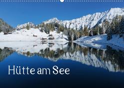 Hütte am See (Wandkalender 2021 DIN A2 quer) von Kramer,  Christa