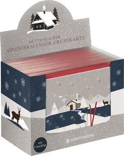 Hüttenzauber Adventskalender-Grußkarte