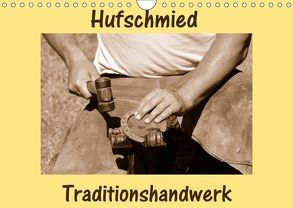 Hufschmied Traditionshandwerk (Wandkalender 2018 DIN A4 quer) von van Wyk - www.germanpix.net,  Anke