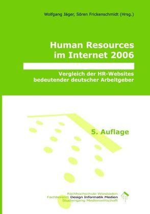 Human Resources im Internet 2006 von Frickenschmidt,  Sören, Jaeger,  Wolfgang