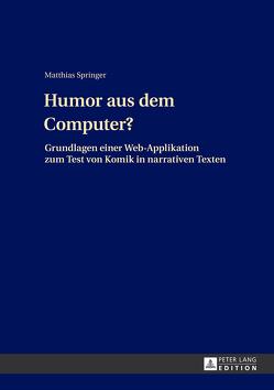 Humor aus dem Computer? von Springer,  Matthias