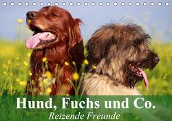 Hund, Fuchs und Co. Reizende Freunde (Tischkalender 2021 DIN A5 quer) von Stanzer,  Elisabeth