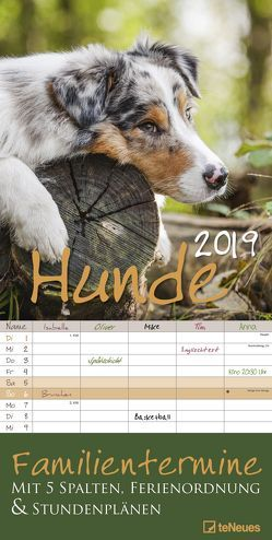 Hunde 2019 Familienplaner