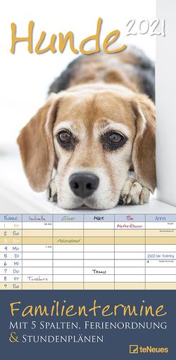 Hunde 2021 Familienplaner – Familien-Timer – Termin-Planer – Kinder-Kalender – Familien-Kalender – 22×45