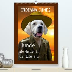 Hunde als Helden in der Literatur (Premium, hochwertiger DIN A2 Wandkalender 2021, Kunstdruck in Hochglanz) von Stoerti-md