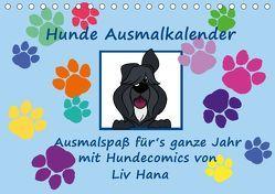 Hunde Ausmalkalender (Tischkalender 2019 DIN A5 quer) von Drafz,  Silvia