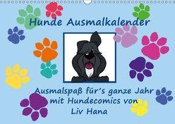 Hunde Ausmalkalender (Wandkalender 2018 DIN A3 quer) von Drafz,  Silvia