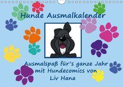 Hunde Ausmalkalender (Wandkalender 2018 DIN A4 quer) von Drafz,  Silvia