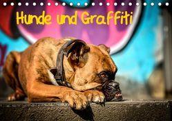 Hunde und Graffiti (Tischkalender 2019 DIN A5 quer) von Janetzek,  Yvonne