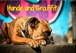 Hunde und Graffiti (Wandkalender 2021 DIN A2 quer) von Janetzek,  Yvonne