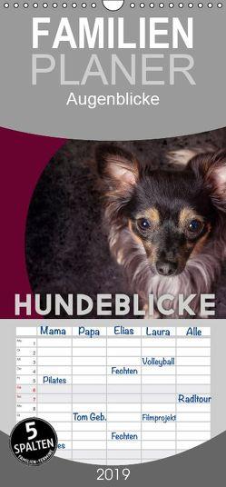Hundeblicke / Augenblicke – Familienplaner hoch (Wandkalender 2019 , 21 cm x 45 cm, hoch) von Pinkoss Photostorys,  Oliver