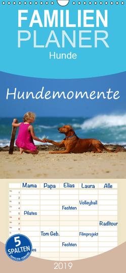 Hundemomente – Familienplaner hoch (Wandkalender 2019 , 21 cm x 45 cm, hoch) von van Wyk - www.germanpix.net,  Anke