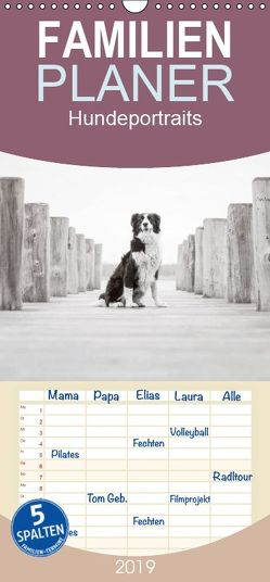 Hundeportraits – Familienplaner hoch (Wandkalender 2019 , 21 cm x 45 cm, hoch) von Pohle,  Janice