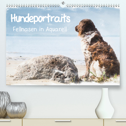 Hundeportraits – Fellnasen in Aquarell (Premium, hochwertiger DIN A2 Wandkalender 2021, Kunstdruck in Hochglanz) von Teßen,  Sonja