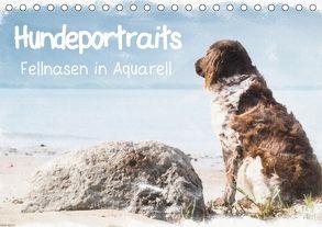 Hundeportraits – Fellnasen in Aquarell (Tischkalender 2018 DIN A5 quer) von Teßen,  Sonja