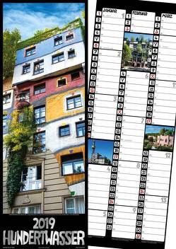 Hundertwasser Streifenkalender Architektur 2019