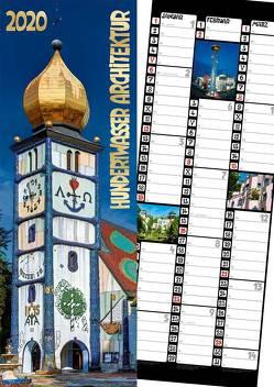 Hundertwasser Streifenkalender Architektur 2020