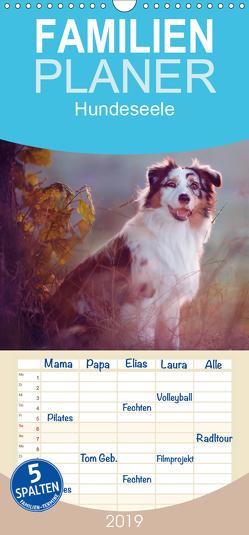 Hundeseele – Familienplaner hoch (Wandkalender 2019 , 21 cm x 45 cm, hoch) von Buttkau,  Katrin