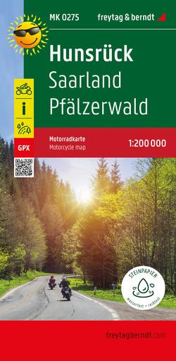 Hunsrück – Saarland – Pfälzerwald, Motorradkarte 1:200.000, freytag & berndt