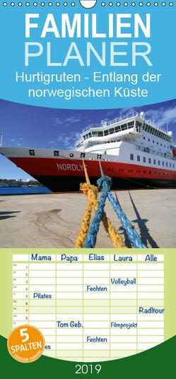 Hurtigruten – Entlang der norwegischen Küste – Familienplaner hoch (Wandkalender 2019 , 21 cm x 45 cm, hoch) von Hanke,  Matthias